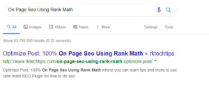 on page seo using Rank Math, how to use rank math for seo, tips and tricks to use rank math, Rank Math seo Plugin,